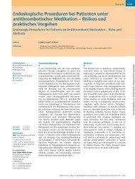 Endoskopische Prozeduren bei Patienten unter ... - Grafino.at