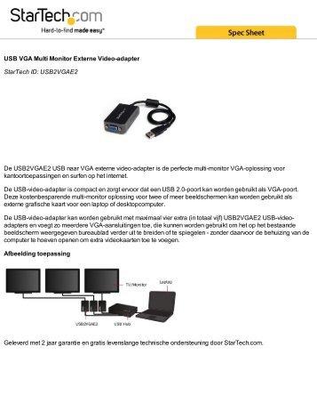 USB VGA Multi Monitor Externe Video-adapter StarTech ID ...