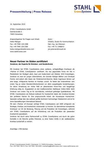 Innokran, der - STAHL CraneSystems GmbH
