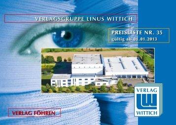 V+D LINUS WITTICH Merchweiler Mediadaten 01.01.2013