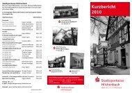 Kurzbericht 2010 - Stadtsparkasse Hilchenbach