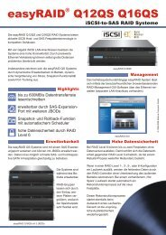 easyRAID Q12QS und Q16QS 4x Gigabit iSCSI-to-SAS/SATA RAID ...