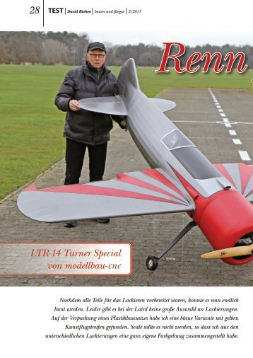 Turner Testbericht Teil 3 02/2013 - Aviation Scale Products