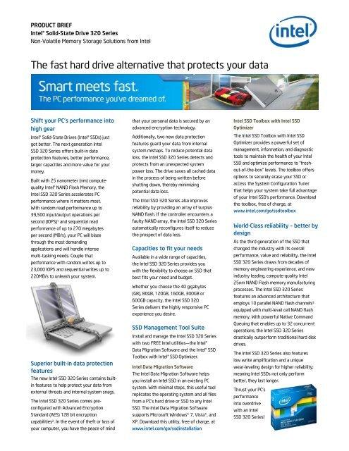 Intel SSD 320 Series - ASI