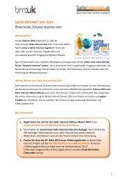 SAFER INTERNET DAY 2014 Österreichs Schulen machen ... - eLSA