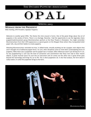OPAL - Ontario Puppetry Association