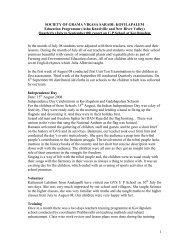 3rd Quarter Progress Report - Asha for Education