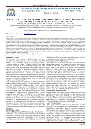 acute toxicity, phytochemistry and antibacterial activity of aqueous ...