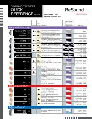 QUICK REFERENCE GUIDE - GN Resound Gov Services - ReSound