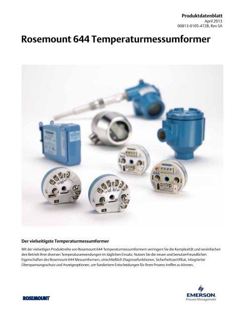 Rosemount 644 Temperaturmessumformer - Emerson Process ...