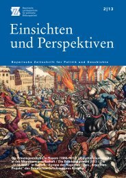 Einsichten und Perspektiven - Bayerische Landeszentrale für ...