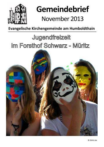 Gemeindebrief November 2013 - Ev. Kirchengemeinde am ...