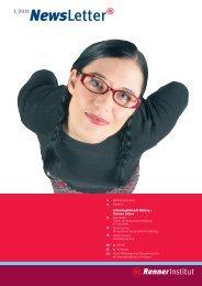 Download Newsletter 1-2011 (pdf, 1.5 MB) - Renner Institut