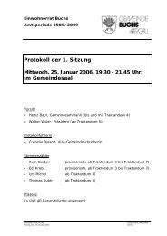 Protokoll 25. Januar 2006 - Gemeinde Buchs