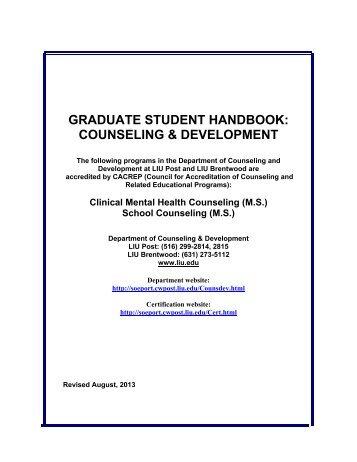 graduate student handbook: counseling & development - College of ...