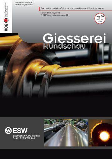 Heft 5/6 - Verein österreichischer Gießereifachleute