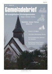 Nr. 01/2013 - Kirche Dallgow