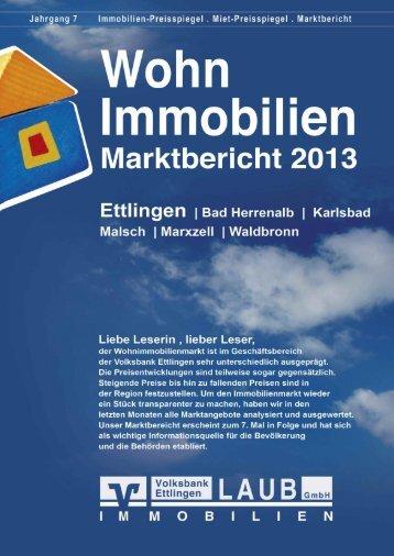 Marktbericht + Immobilienpreisspiegel 2013 - Volksbank Ettlingen eG