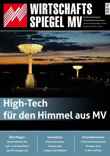 High-Tech für den Himmel aus MV - Hanse Aerospace MV