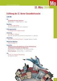 . März 2010 15 - Gesundheit in Herne