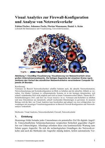 Visual Analytics zur Firewall-Konfiguration und Analyse von ...