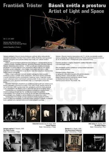 František Tröster Básník světla a prostoru Artist of Light ... - Divadlo.cz
