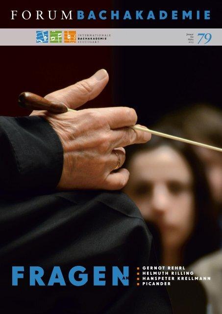 Januar 2013 - Internationale Bachakademie Stuttgart