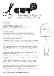 Schnittbogen für Kapuze zu Jacke Luca aus CUT Nr. 4
