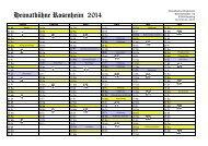 Kalender mit allen Terminen für 2013 - Heimatbühne Rosenheim