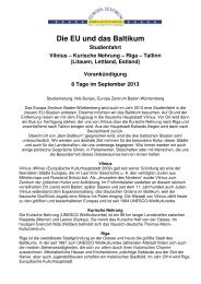 Programm Baltikum 2013 Entwurf - Europa Zentrum