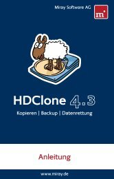 HDClone 4.3 Anleitung - Miray Software