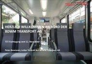 Diamant - bahn.ch - Die Projekte der BDWM Transport AG
