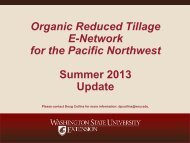 2013 Organic Reduced Tillage Field Day, Puyallup WA ... - eOrganic
