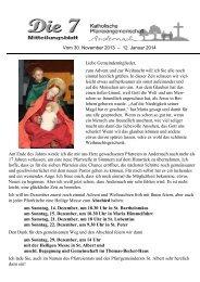 Mitteilungsblatt - Katholische Pfarreiengemeinschaft Andernach