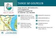 TANGE SØ GOLFKLUB - Dansk Golf Union