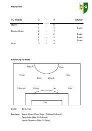 FC Walde 3 - 4 Bruker