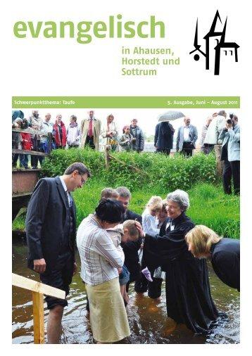 Taufe - Kirchengemeinde Horstedt