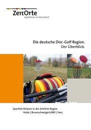 Die deutsche Disc-Golf Region. Der Überblick. - ZeitOrte