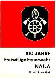 Festschrift 100 Jahre Freiwillige Feuerwehr Naila von 1969 (Scan)
