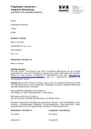 Fragebogen Anmeldung integrierter Sonderschüler - SVA Aargau