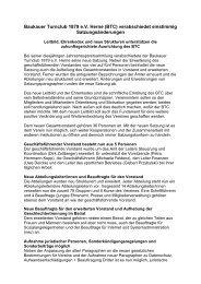 Baukauer Turnclub 1879 eV Herne (BTC) verabschiedet einstimmig ...