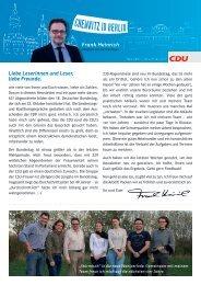 Newsletter November 2013 - Frank Heinrich