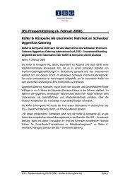 IEG Pressemitteilung (4. Februar 2008) Kofler & Kompanie AG ...
