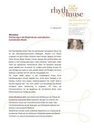 siehe hier (PDF) - Rhythmuse Karin Bindu