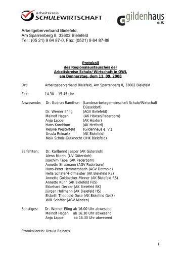 Arbeitskreis Schule / Wirtschaft Bielefeld - Gildenhaus e.V.