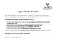 Opportunities for Participation - Birds Australia