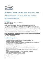 Von Bhutan über Nepal nach Tibet - Dr. Wolfgang Siepen