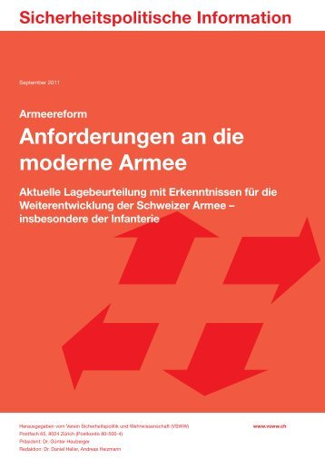 Anforderungen an die moderne Armee - VSWW