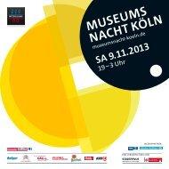 6.3 MB - Lange Nacht der Kölner Museen