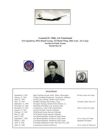 My World War II Story - Olds-Hoagland Family